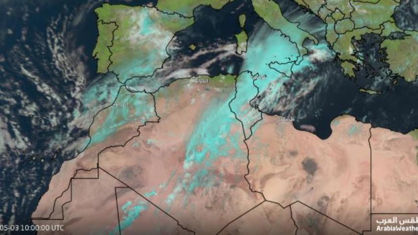 Mise à jour météo | Renouvellement des pluies dans de nombreuses zones en Tunisie et en Algérie et alertes d'inondations dans ces zones