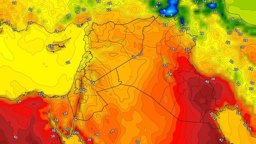Koweït | Temps chaud dans toutes les régions en fin de semaine et vents forts provoquant de la poussière dans certaines régions