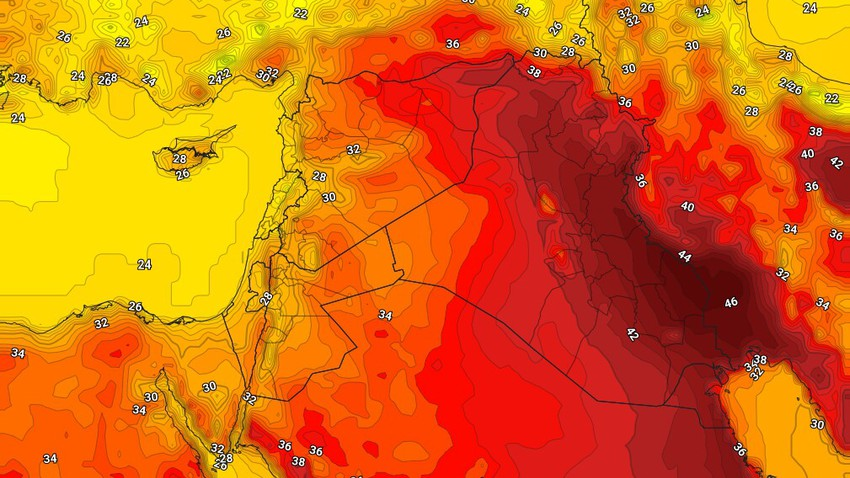 Levant | This is the time for temperatures to return to their normal annual rates