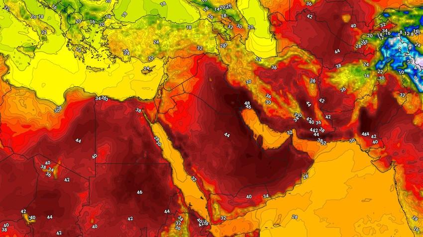 طقس العرب   أبرز الأنظمة الجوية السائدة في الجزيرة العربية بالتزامن مع دخول فصل الصيف