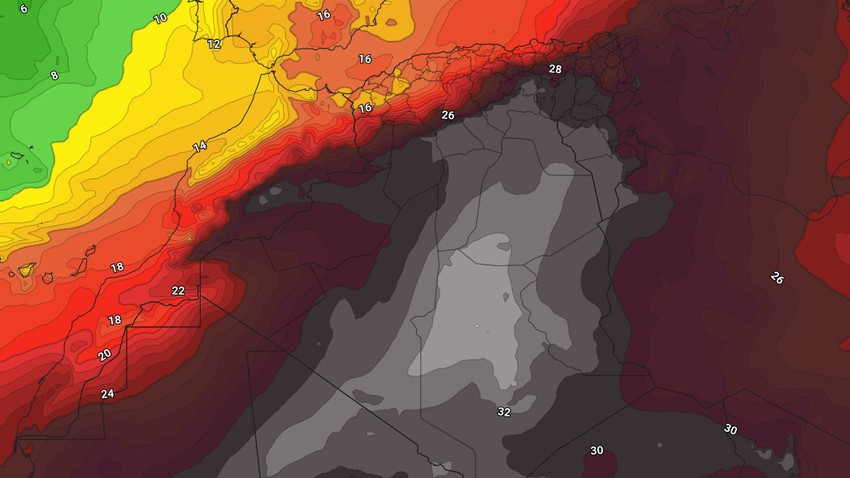 الجزائر | استمرار سيطرة الأجواء الحارة على الجمهورية بالتزامن مع أحوال جوية غير مستقرة في الولايات الشمالية