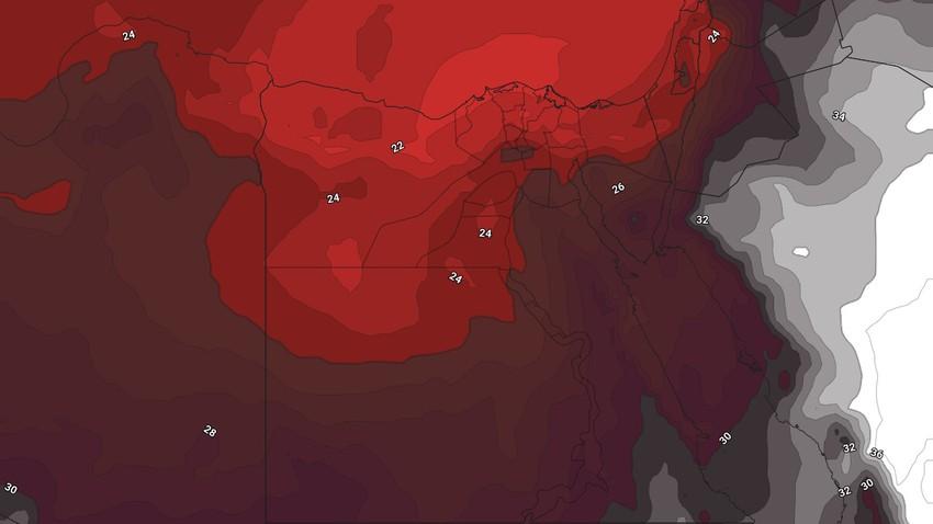 مصر | ارتفاع مُتصاعد وملموس على الحرارة مُترافقاً برياح نشطة تثير الأتربة والغبار على أجزاء من الجمهورية الأيام القادمة