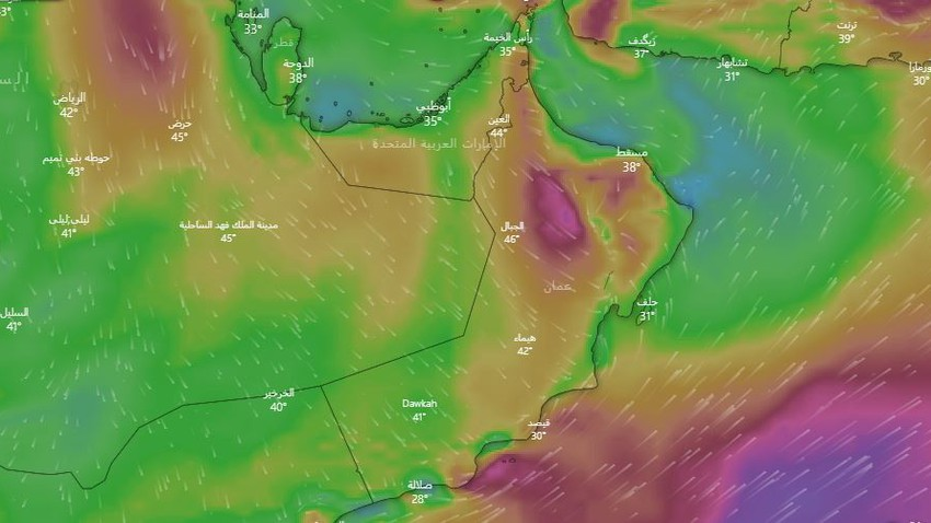 important | Arab weather warns of an increase in temperature, in conjunction with a remarkable activity of winds that raise dust and dust in some areas during the coming days