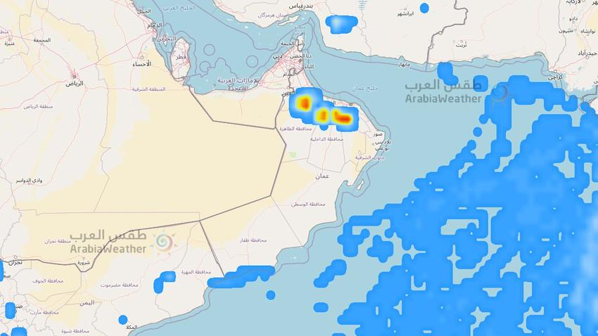 important | Une vague tropicale humide traverse la région et améliore les chances de pluie la semaine prochaine dans de nombreuses régions du Sultanat d'Oman
