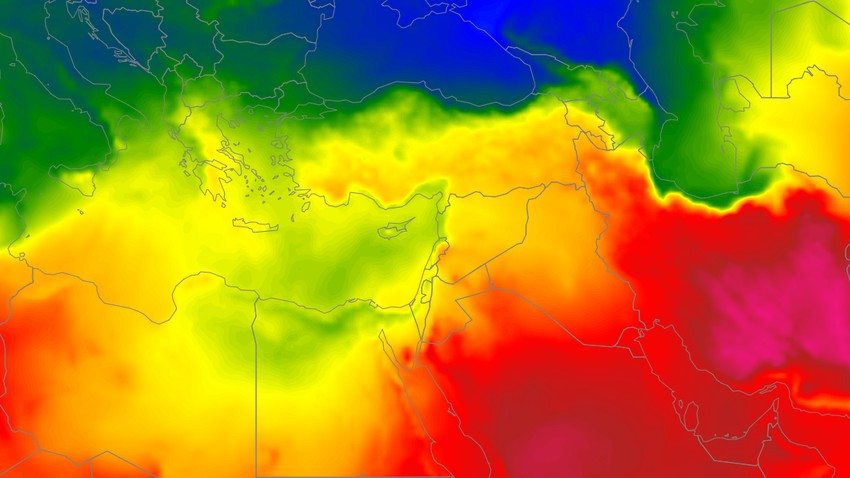 Levant | Mild summer weather will gradually turn into normal over the coming days