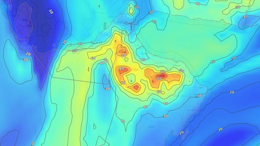 Sultanat d'Oman | Intensification des fortes pluies et des plaques de pluie dans de nombreuses régions mercredi, avertissement de l'écoulement des vallées