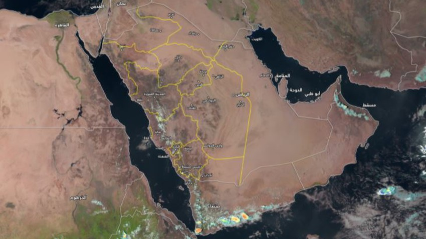 Sultanate of Oman   Satellite images monitor the return of the activity of local formations on the Hajar Mountains