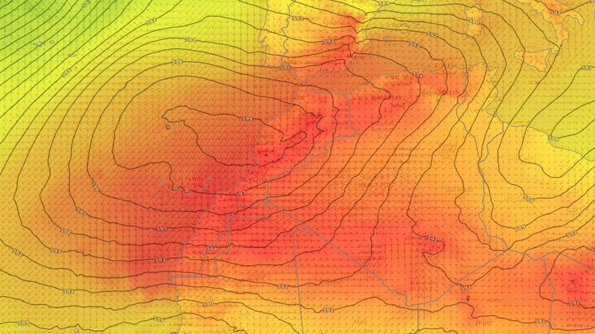 الجزائر والمغرب   استمرار سيطرة الموجة الحارّة على المنطقة تزامناً مع أحوال جوية غير مستقرة في بعض المناطق الإثنين