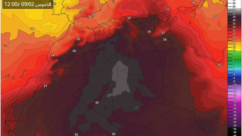 Algeria | Hot to very hot weather in most areas and thunderstorms in these areas on Thursday