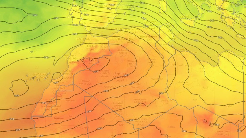 Algeria | Stable weather in most areas and a gradual decline in the influence of the hot mass during the current week