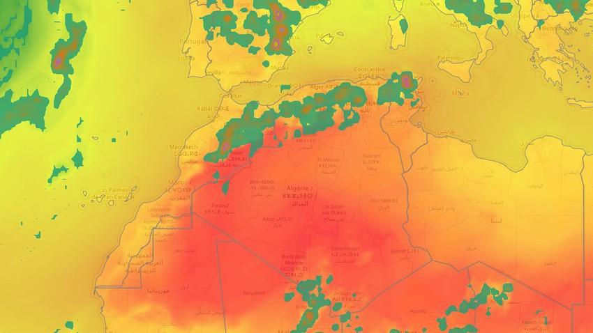 الجزائر | أحوال جوية غير مستقرة خلال الأيام القادمة تترافق مع زخات رعدية في بعض المناطق الشمالية وتنبيه من السيول