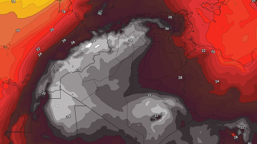 Algeria | Normal summer weather turns hot in the middle of next week