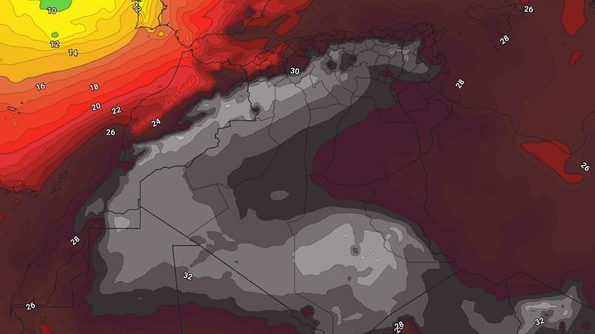 الجزائر | اشتداد تأثير الكتلة الحارّة على الجمهورية وأحوال جوية غير مستقرة في الأجزاء الجنوبية نهاية الأسبوع