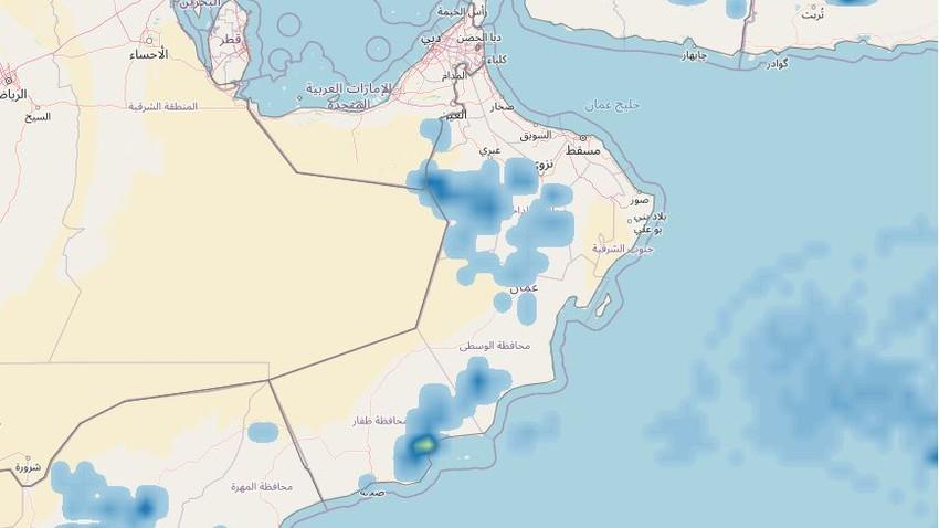 سلطنة عُمان   سحب رعدية تشمل العديد من المناطق الاثنين في مقدمة الموجة الشرقية