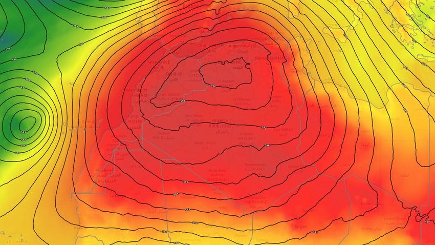 الجزائر   موجة حارة تندفع صوب الجمهورية اعتباراً من السبت مرفقة مع فرص هطول أمطار رعدية
