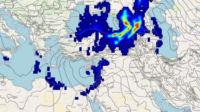 Levant   An extension of an air depression on Thursday brings some rain in many areas