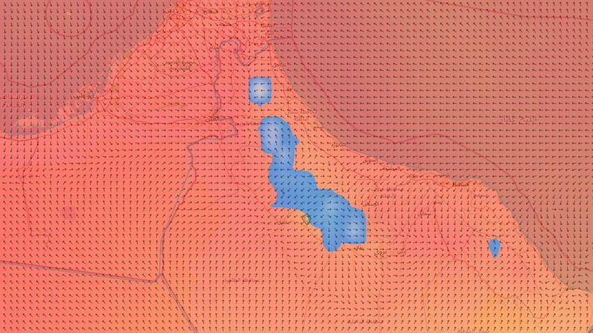 سلطنة عُمان | استمرار تشكل السحب الركامية على جبال الحجر مع ساعات ما بعد ظهر الثلاثاء