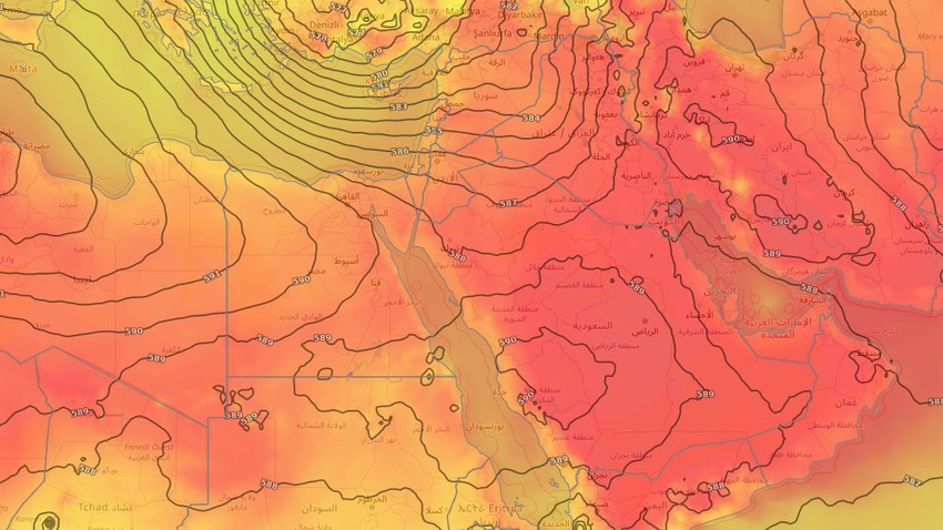 Levant | Hot weather in most areas and no change in the weather is expected at the end of the week