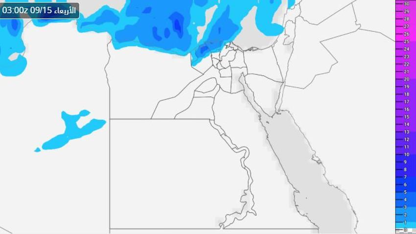 Egypt   A rainy night awaits parts of the northern coast..Details