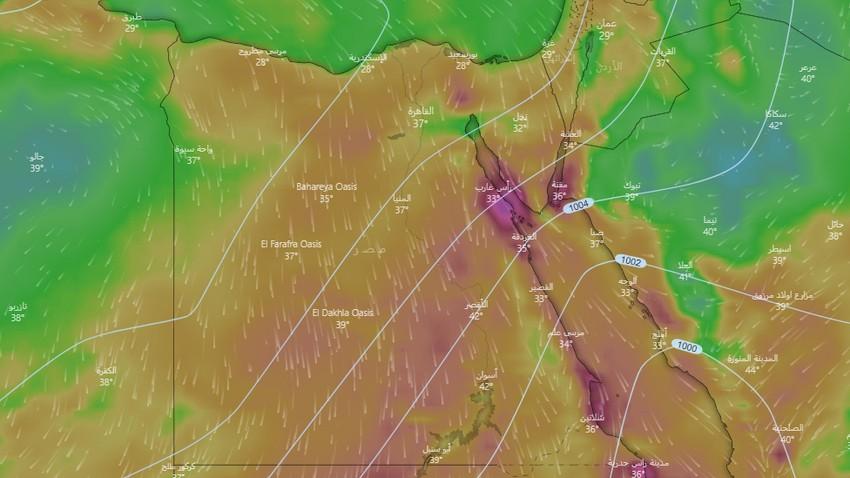 تنبيه | رياح نشطة وغبار يشمل مناطق عدّة من مصر يوم الإثنين