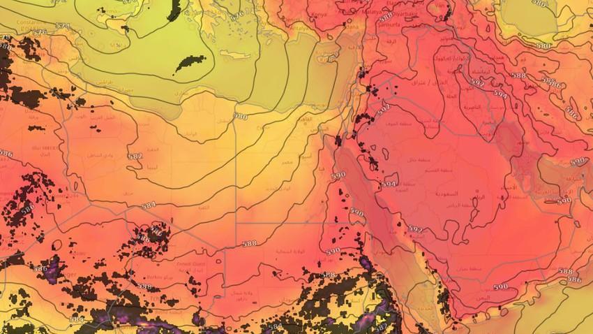 مصر | طقس حارّ في أغلب المناطق وفرصة لزخات مُتفرقة من الأمطار في هذه المناطق