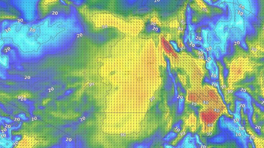Egypte | Temps chaud toute la semaine et activité quotidienne en raison de la vitesse du vent et de la poussière dans ces zones