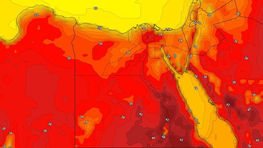 مصر   انخفاض طفيف على درجات الحرارة واستمرار فرص الغبار وتشكّل الشبورة المائية في هذه المناطق نهاية الأسبوع