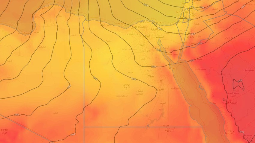 Egypte | Temps chaud dans la plupart des régions de l'Égypte au cours des prochains jours