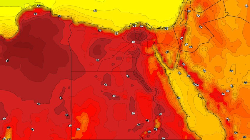 Egypt | The intensity of the heat intensifies, and the heat touches the 40 in the capital, Cairo, on Monday