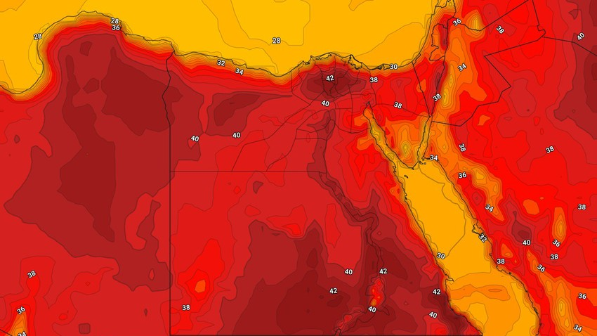 Egypt   An additional rise in temperatures and very hot weather in most areas on Sunday