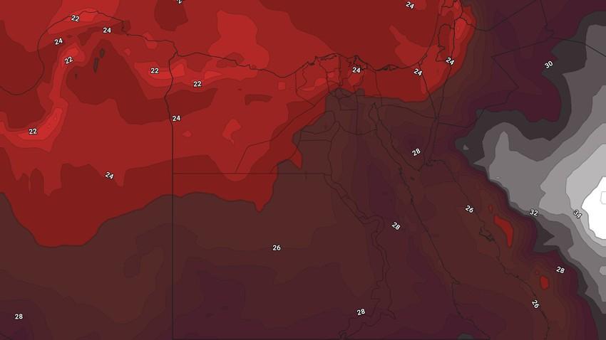 Egypte   Une hausse supplémentaire des températures et un temps très chaud dans la plupart des régions, à partir de vendredi