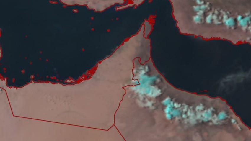الإمارات   تطور للسحب الركامية شرق الدولة وفرصة لامتدادها لمدينة العين الساعات القادمة