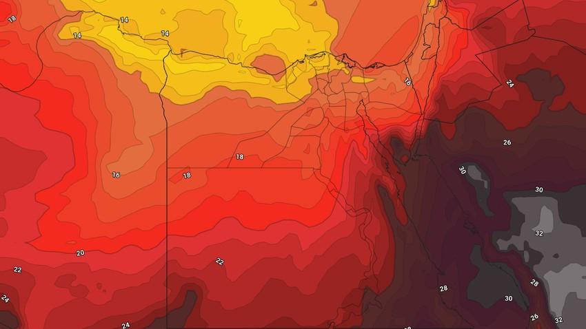 مصر   انخفاض ملموس على درجات الحرارة وليالي لطيفة في أغلب المناطق خلال الأيام القادمة