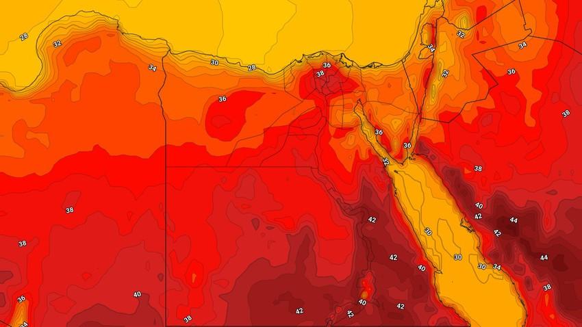 مصر | المزيد من الانخفاض على درجات الحرارة وأجواء صيفية اعتيادية في أغلب المناطق الثلاثاء