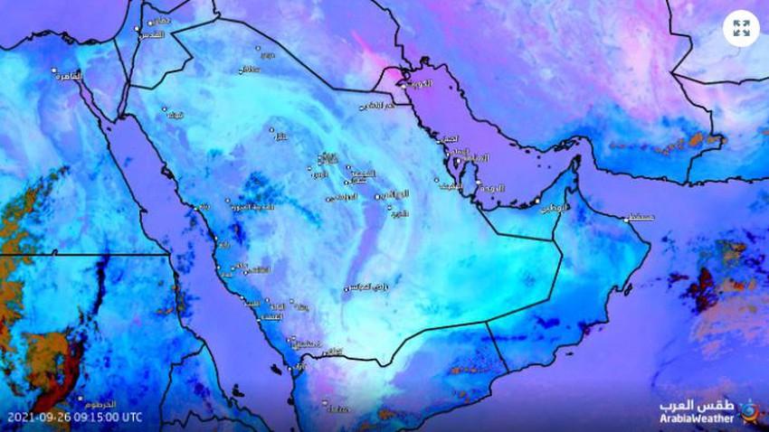 الكويت   موجة غبار تتشكل في بعض المناطق والرؤية الافقية دون الـ 500 متر