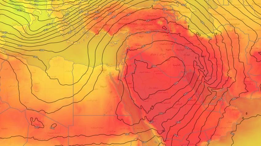 بلاد الشام | استمرار سيطرة كتلة هوائية حارّة على المنطقة خلال نهاية الأسبوع