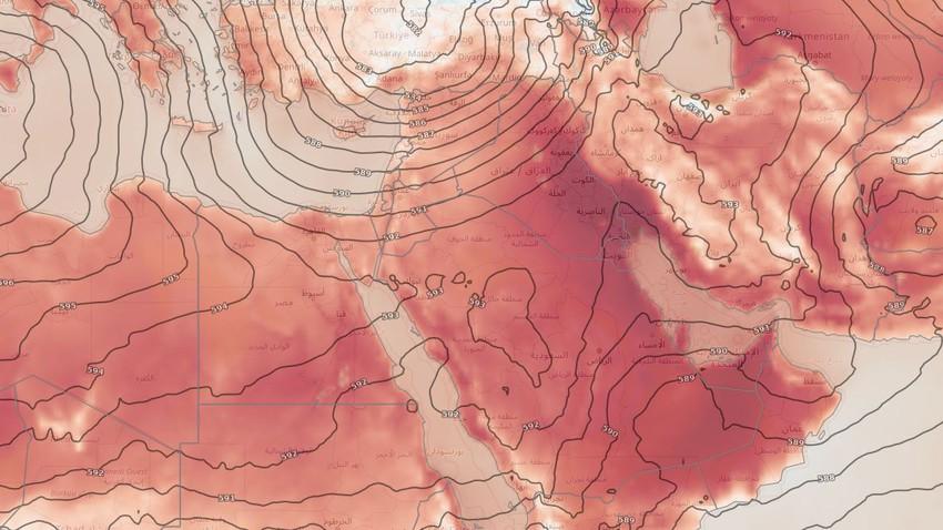 بلاد الشام | طقس صيفي اعتيادي يميل للحرارة على فترات ومناسب للرحلات في العديد من المناطق يوم الإثنين