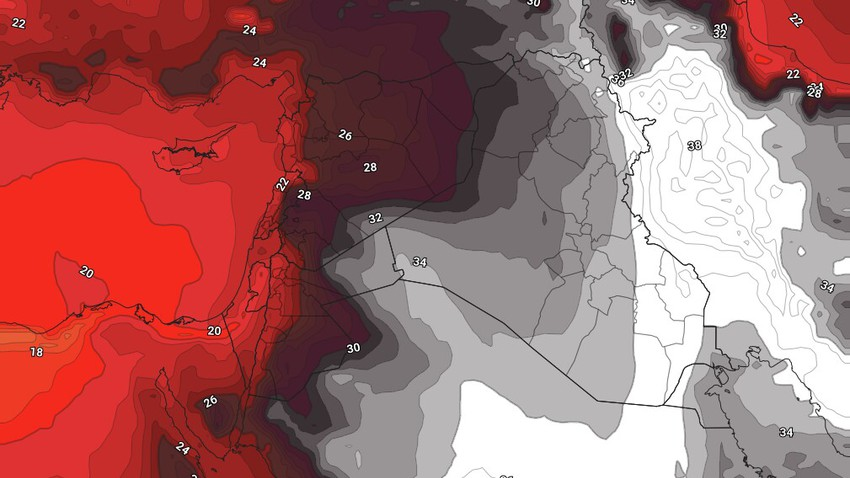 Levant | An air mass with normal temperatures will continue to control the area during the coming days الأيام