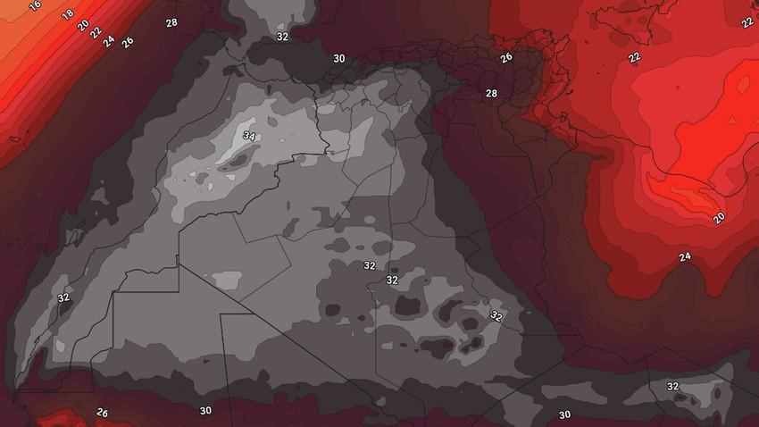 important | Après l'Algérie et la Tunisie, une nouvelle vague de chaleur va frapper le Maroc et l'ouest algérien dans les prochains jours