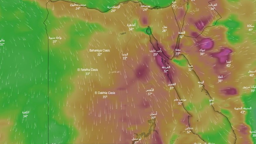 Egypt | An additional drop in temperature and an alert of active winds that raise dust and dust in some areas on Monday