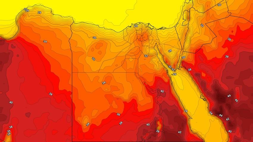 مصر   انخفاض إضافي على الحرارة وطقس صيفي اعتيادي يترافق برياح نشطة مثيرة للغبار في هذه المناطق خلال الأيام القادمة