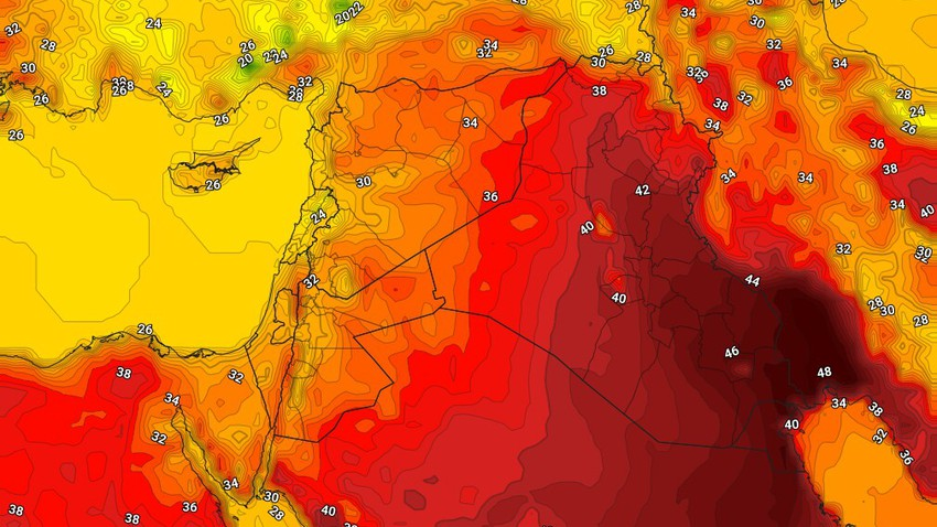 Levant | Mild weather continues to dominate the region on Wednesday