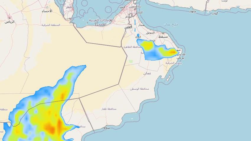 سلطنة عُمان   تحسن فرص الأمطار الرعدية على الحجر الشرقي والمناطق المحيطة به خلال الأيام القادمة