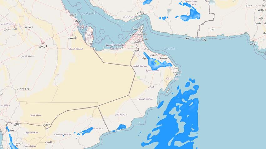 سلطنة عُمان   اتساع رقعة السحب الركامية خلال الساعات القادمة والأمطار الرعدية تتركز في هذه المناطق