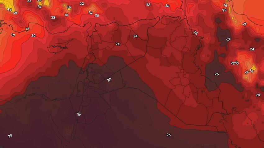 الأردن | انخفاض على درجات الحرارة الجمعة وكتلة هوائية حارّة اعتباراً من السبت