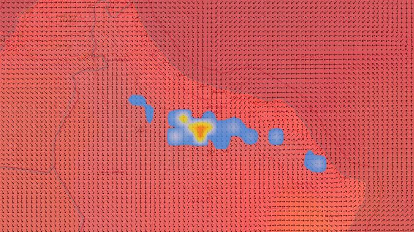 سلطنة عُمان | استمرار نشاط السحب الرعدية الماطرة على أجزاء من جبال الحجر والمناطق المجاورة يوم الثلاثاء