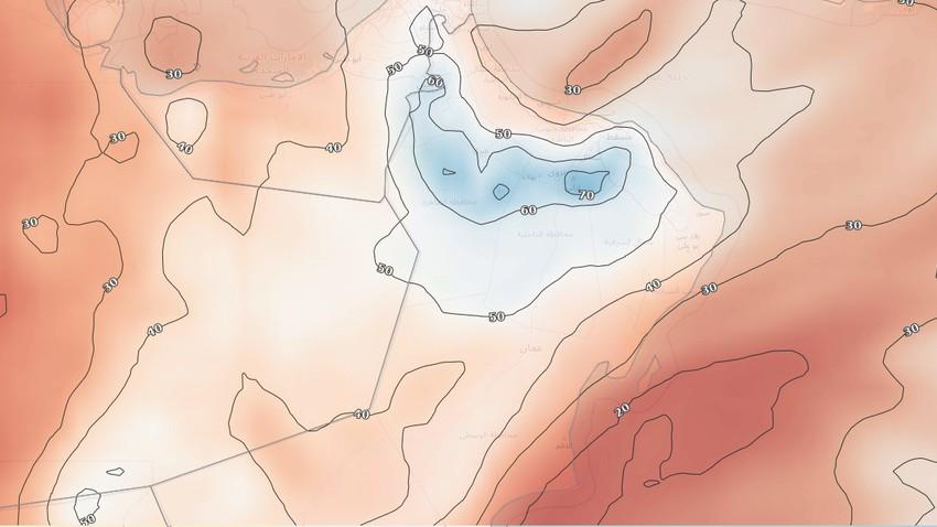 سلطنة عُمان | تحسن فرص الأمطار على الحجر الغربي والمناطق المجاورة الثلاثاء