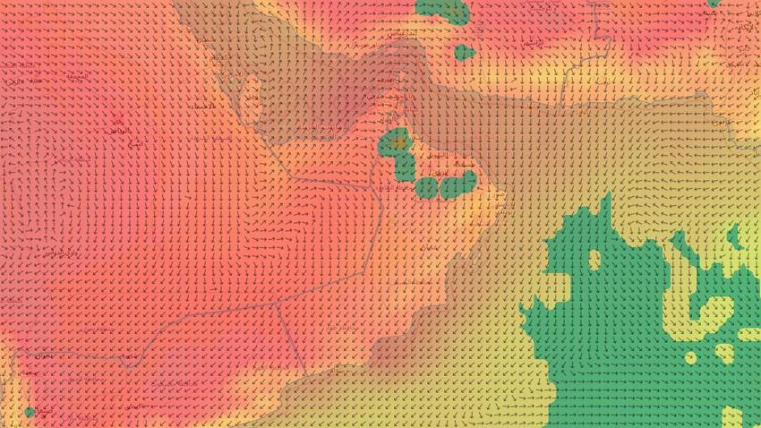 سلطنة عُمان   اتساع رقعة المناطق المشمولة بفرص الأمطار الرعدية لتشمل العديد من مناطق السلطنة يوم الثلاثاء
