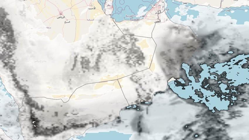سلطنة عُمان | كميات كبيرة من السحب تُغطي سماء السلطنة تترافق بزخات من الأمطار على المناطق الساحلية خلال الأيام القادمة
