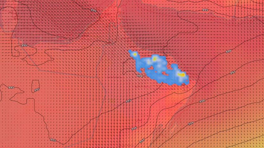 Sultanate of Oman   Continuing activity of thunderstorms over parts of Al Hajar Mountains and neighboring areas this week